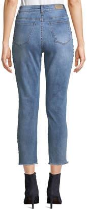 Velvet Heart Louie Racer Stripe Cropped Jeans