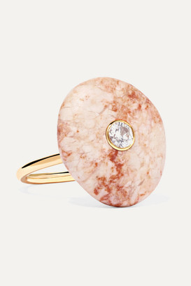 Cvc Stones 18-karat Gold, Stone And Diamond Ring - 6