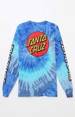 Santa Cruz Classic Dot Tie-Dye Long Sleeve T-Shirt
