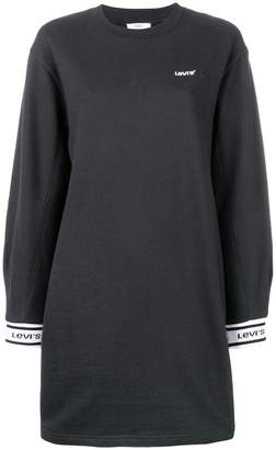 Levi's logo sweatshirt dress