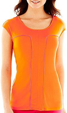JCPenney Worthington® Tipped Keyhole Top - Petite