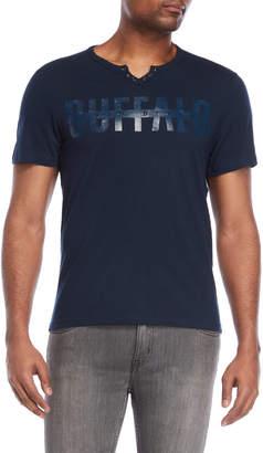 Buffalo David Bitton Nethum Tonal Logo Henley Tee