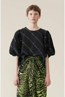Ganni Silk Linen Blouse
