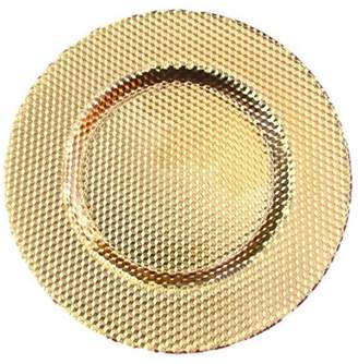 Red Pomegranate ILLUSION CHARGER PLATE GOLD