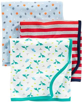 Carter's Simple Joys by Baby Boy's 3-Pack Cotton Swaddle Blanket