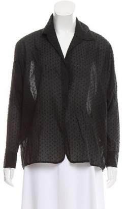 Elizabeth and James Textured Long Sleeve Blouse