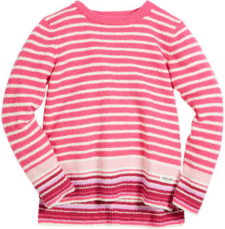 Joules Striped High-Low Sweater, Size 3-10