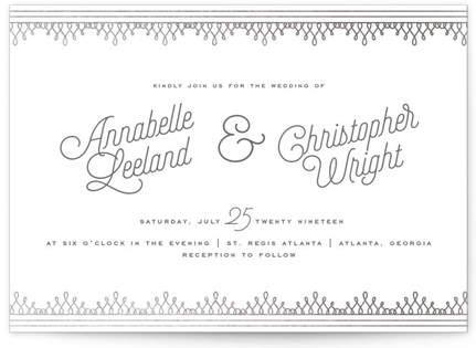 Little Loops Foil-Pressed Wedding Invitations