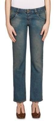 Cotton Straight-Leg Jeans