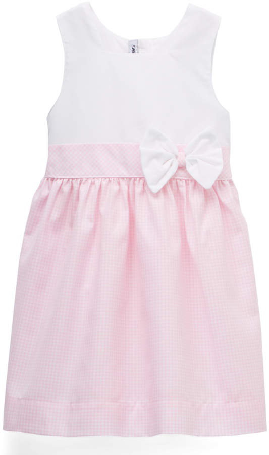 Pink Gingham Bow Dress - Infant & Girls