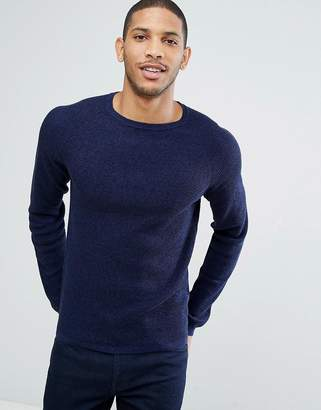 Selected Crew Neck Knit In Marl
