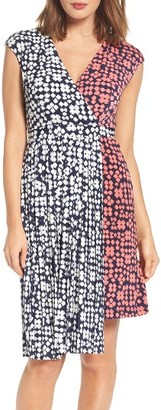 Women's Maggy London Print Faux Wrap Dress $128 thestylecure.com
