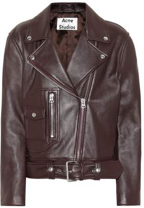 Acne Studios Boxy Biker leather jacket