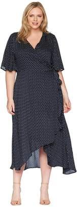 Bobeau B Collection by Plus Size Orna Wrap Dress Women's Dress
