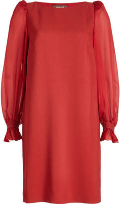 Roberto Cavalli Dress with Sheer Sleeves