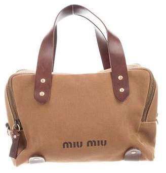 Miu Miu Leather-Trimmed Satchel Bag