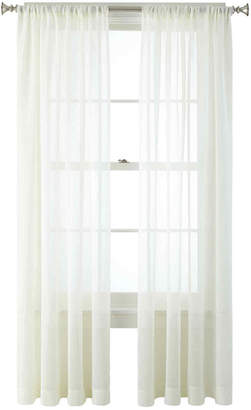 JCPenney JCP HOME HomeTM Heather Rod-Pocket Sheer Panel