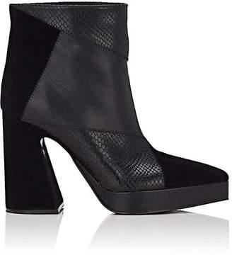 Proenza Schouler Women's Block-Heel Leather Ankle Boots