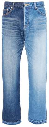 NOVE Colourblock cropped jeans