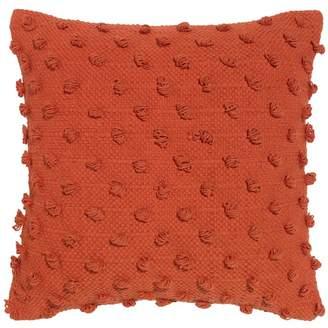 Acacia Solid Orange Cotton Cushion
