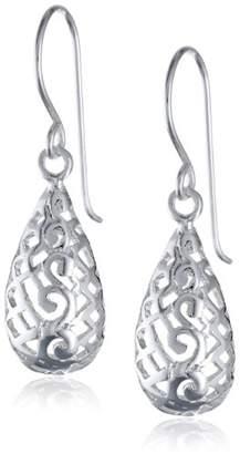 Sterling Bali Filigree Teardrop Earrings
