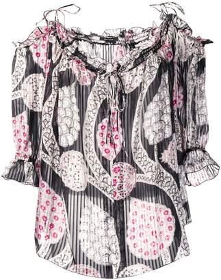 Isabel Marant pleated peasant blouse