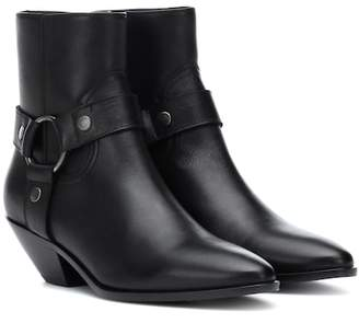Saint Laurent West Harness leather ankle boots