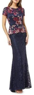 JS Collections Floral Lace Gown
