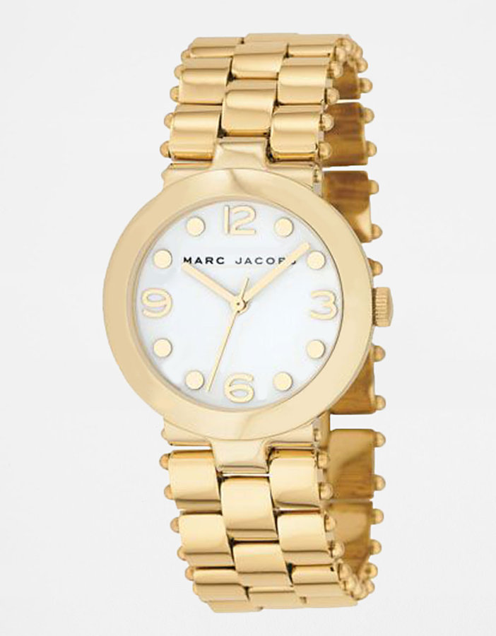 MARC BY MARC JACOBS Gold IP Stainless Steel Link Bracelet Watch
