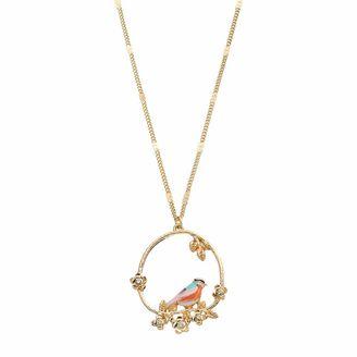 LC Lauren Conrad Bird Wreath Pendant Long Necklace $18 thestylecure.com