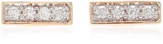 Walters Faith Mini Rose Gold and Diamond Bar Studs