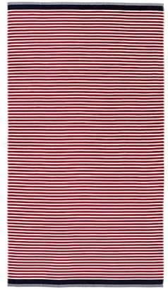 Pottery Barn Mini Stripe Beach Towel - Red/Navy