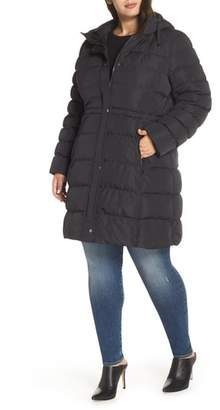 Andrew Marc Jersey Hooded Parka
