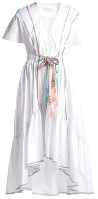 Peter Pilotto Cord Belt Cotton Dress - Womens - White