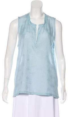 L'Agence Silk Sleeveless Top