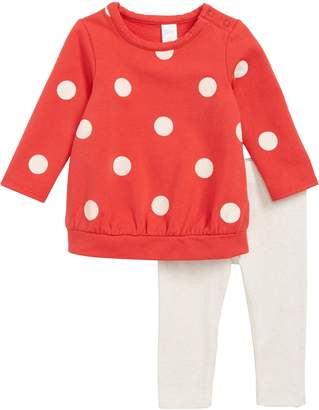 Nordstrom Cozy Polka Dot Tunic & Leggings Set