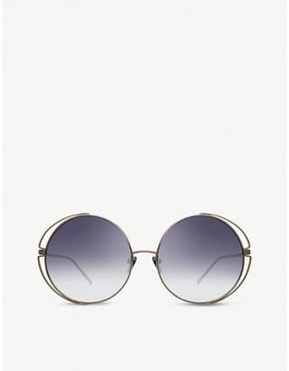 Linda Farrow LFL816 round-frame sunglasses
