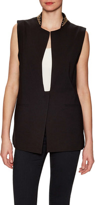 Thomas Wylde Elm Embellished Stand Collar Jacket