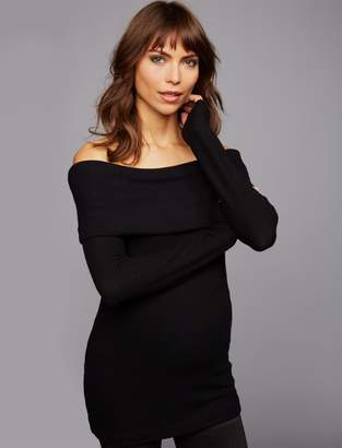Three Dots Pea Collection Off The Shoulder Maternity Top