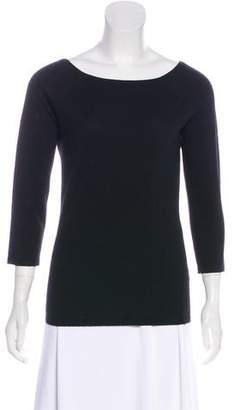 Naeem Khan Cashmere Long Sleeve Top