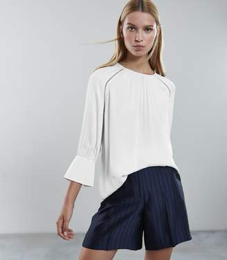 Reiss Isabella Ladder Trim Long Sleeved Blouse
