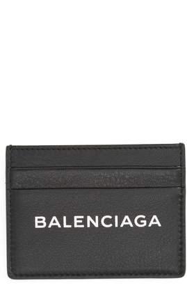 Balenciaga Logo Leather Card Case