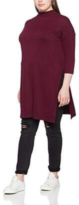 New Look Curves Women's Brushed Stand Neck Tunic Long Sleeve Top