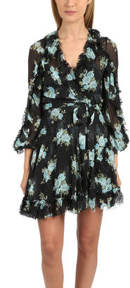 Zimmermann Whitewave Ruffle Wrap Dress