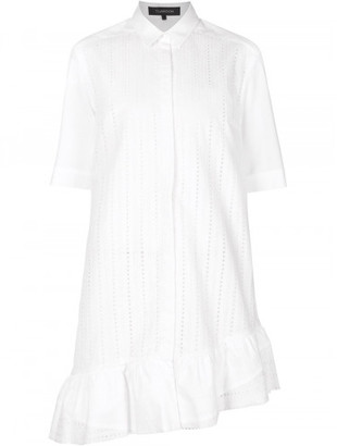Thakoon broderie anglaise ruffled shirt dress