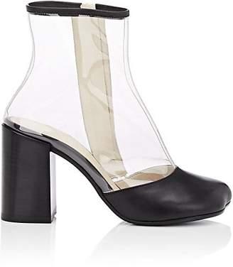 MM6 MAISON MARGIELA Women's PVC & Leather Ankle Boots