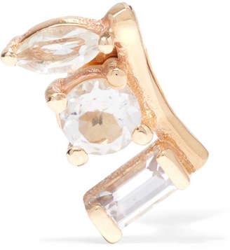 Loren Stewart - 14-karat Gold, Sapphire And Topaz Earring $245 thestylecure.com
