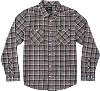 RVCA Men's Hero Long Sleeve Woven Flannel Shirt