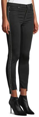 Black Orchid Miranda Step-Hem High-Rise Skinny with Racer Stripes