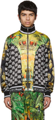 Dolce & Gabbana Multicolor Hawaiin Logo Zip-Up Shirt